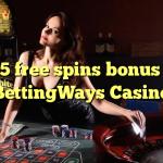 135 gratis spins bonus by BettingWays Casino