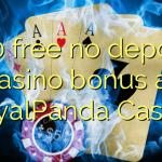 160 free no deposit casino bonus at RoyalPanda Casino