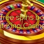 130 free spins bonus at King Casino