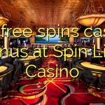 165 free spins casino bonus at Spin Live Casino