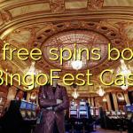 170 free spins bonus at BingoFest Casino