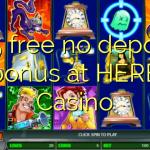 175 free no deposit bonus at HERE Casino