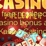30 free no deposit casino bonus at Kaboo Casino
