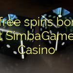 50 free spins bonus at SimbaGames Casino