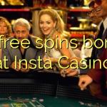 95 free spins bonus at Insta  Casino