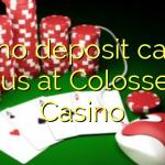 105 geen deposito casino bonus by Colosseum Casino