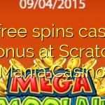 15 giri gratuiti bonus al Casinò Scratch Mania