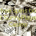 170 free spins bonus at SunnyPlayer Casino