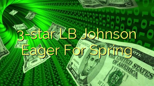 3-star LB Johnson Eager For Spring