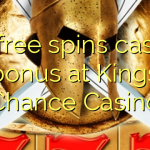 40 free spins casino bonus at Kings Chance Casino