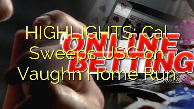 HIGHLIGHTS: Cal Sweeps USC on Vaughn Home Run