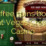 125 free spins bonus at Vegas Crest Casino