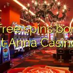 55 free spins bonus at Anna Casino