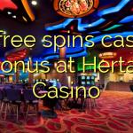 55 free spins casino bonus at Hertat Casino