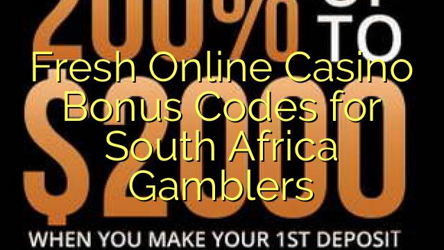 Fresh Online Casino Bonus Codes for South Africa Gamblers