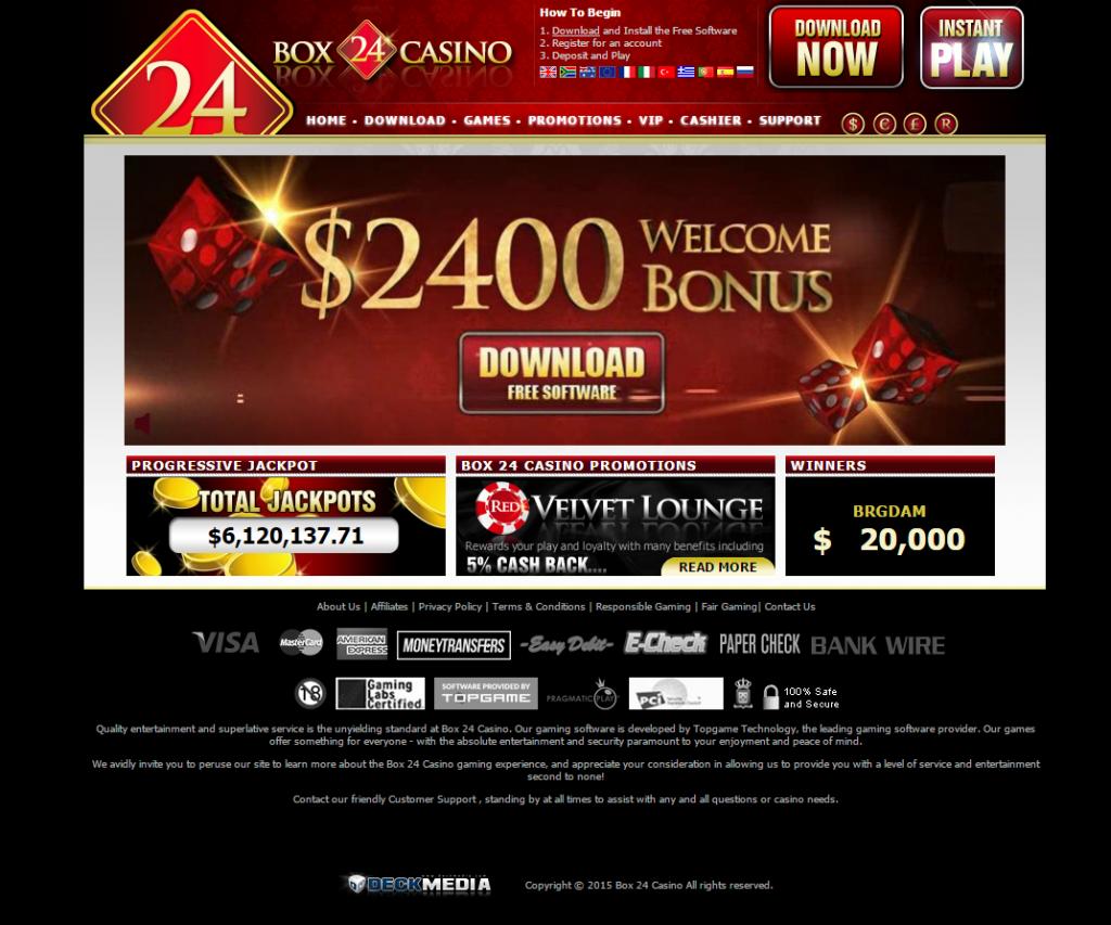 box 24 online casino