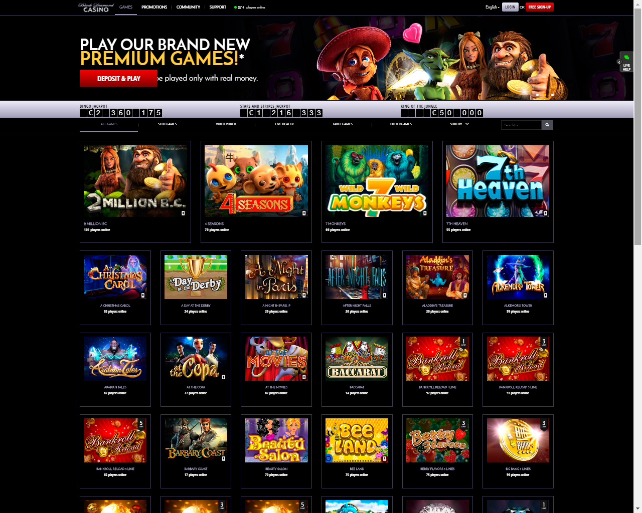 usa online casino like a diamond