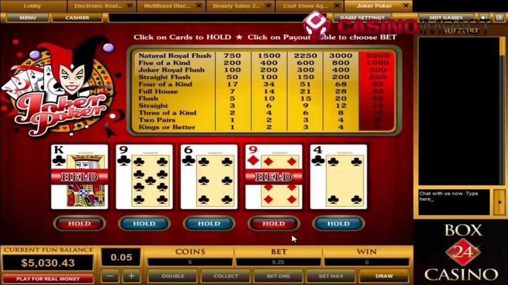24 box casino