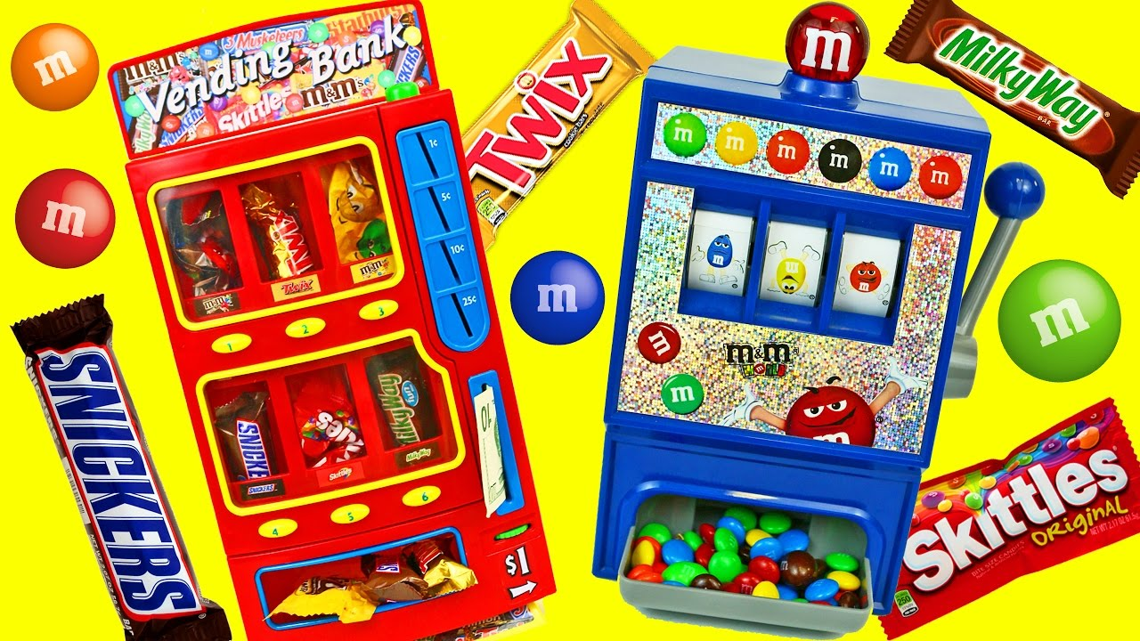 Candy vending machine real working chocolate snickers m for 10 in 1 game table toys r us