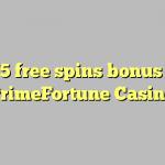 175 free spins bonus at PrimeFortune Casino