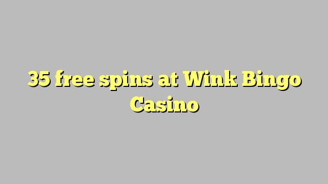 विंक बिंगो कैसीनो में 35 मुक्त स्पिन