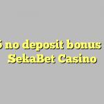 95 no deposit bonus at SekaBet Casino