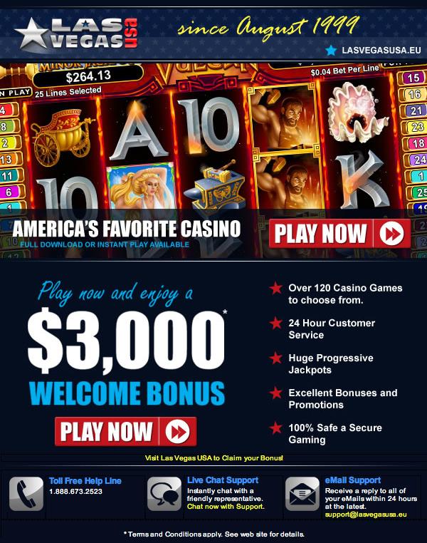 USA Online Casinos - Play Vegas Games Online