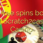 100 free spins bonus at Scratch2cash Casino