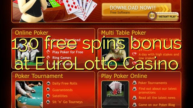 130 free spins bonus at EuroLotto Casino