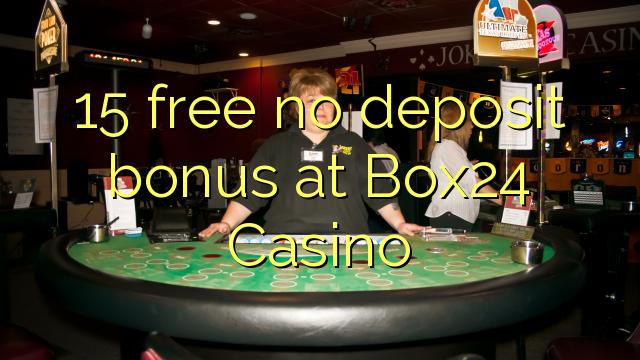 15 gratis ingen depositum bonus på Box24 Casino