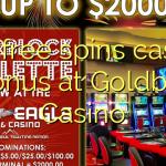 150 free spins casino bonus at Goldbet Casino