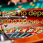 160 free no deposit casino bonus at VegasPlay Casino