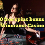 160 free spins bonus at Winorama Casino