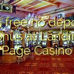 165 free no deposit bonus at Landing Page Casino