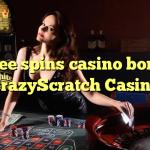 165 free spins casino bonus at CrazyScratch Casino