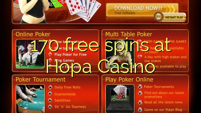 170 free spins at Hopa Casino