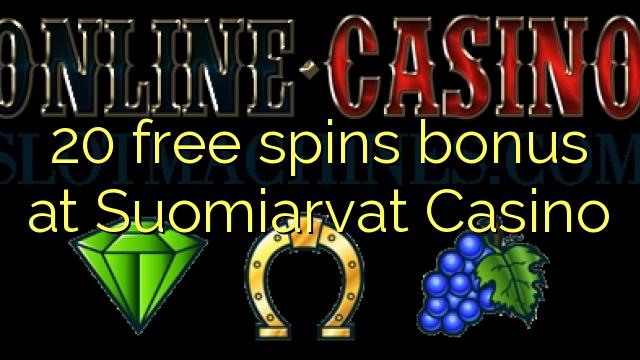 20 ücretsiz Suomiarvat Casino'da ikramiye spin