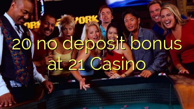 20 Bonus ohne Einzahlung bei Casino 21