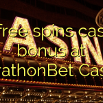 55 free spins casino bonus at MarathonBet Casino