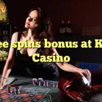 60 free spins bonus at Kaboo Casino