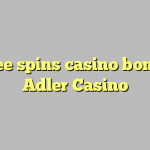 60 free spins casino bonus at Adler Casino