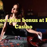 65 free spins bonus at Paris  Casino