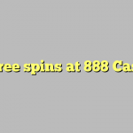 80 free spins at 888 Casino