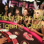95 free spins bonus at Igame Casino