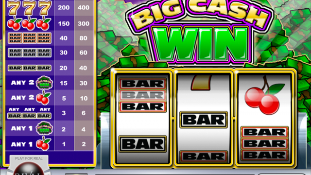 Big Cash Win prosto režo