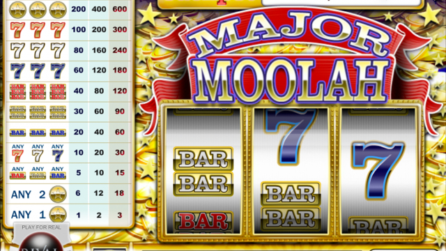 Major Moolah vrij slot