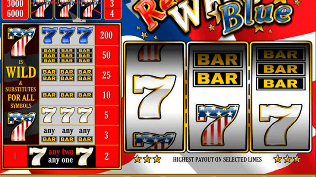 Red White & Blue free slot