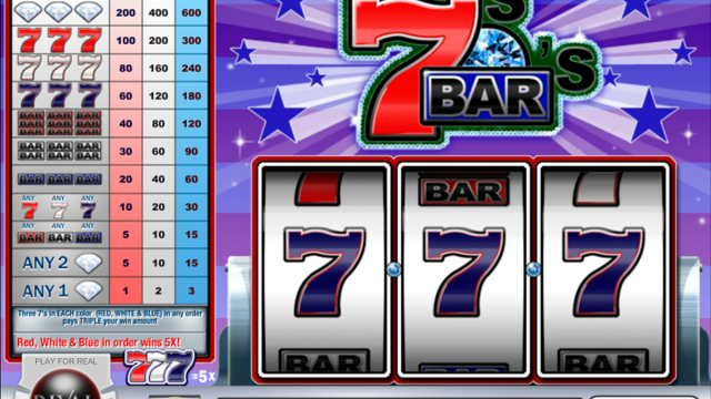 Slot gratuíto de Sevens and Bars