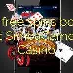 100 free spins bonus at SimbaGames Casino