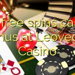 100 free spins casino bonus at Leovegas Casino